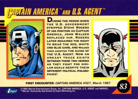 Marvel Universe Trading Cards - Series III (1992) - Page 166