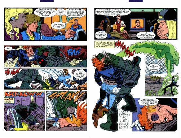 This is the only time in history someone who used a power ring as a weapon did not go into battle without encasing themselves in a force field first.