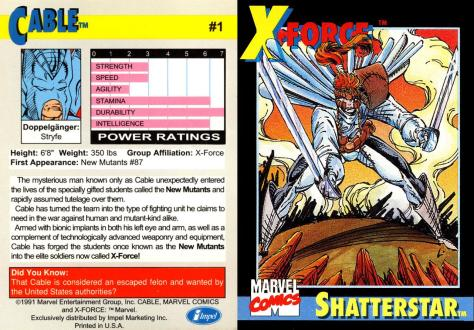 X-Force Promo Cards (1991) - Page 2