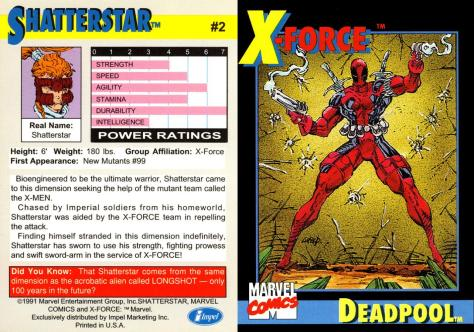 X-Force Promo Cards (1991) - Page 4