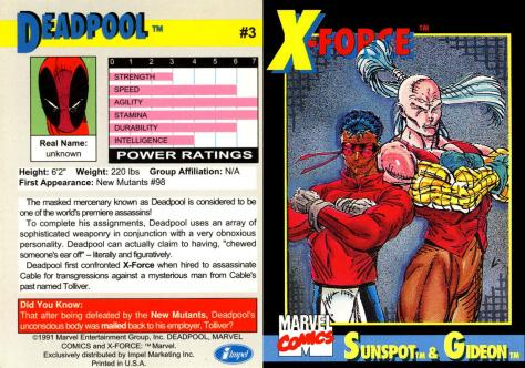 X-Force Promo Cards (1991) - Page 6