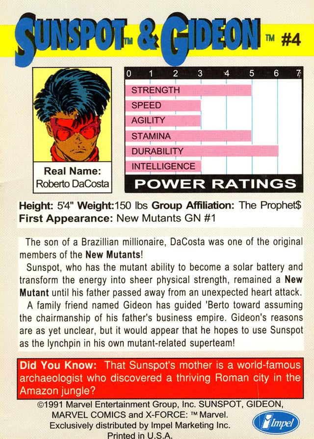 Friday Follow-Up!  X-Force Cards! (2/6)