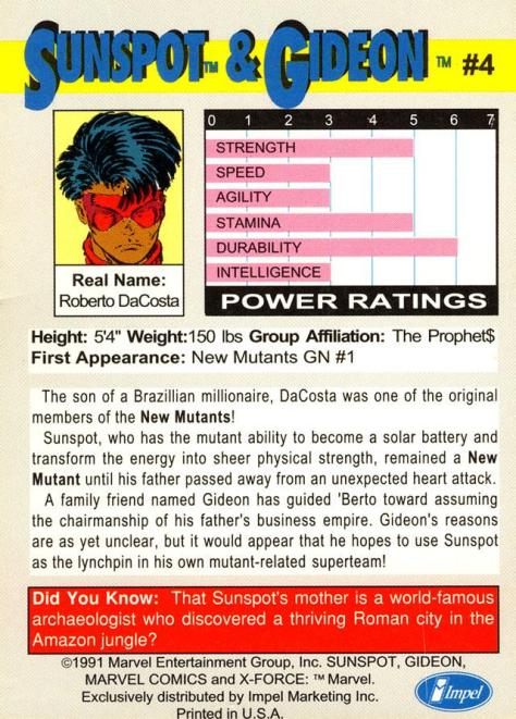 X-Force Promo Cards (1991) - Page 8