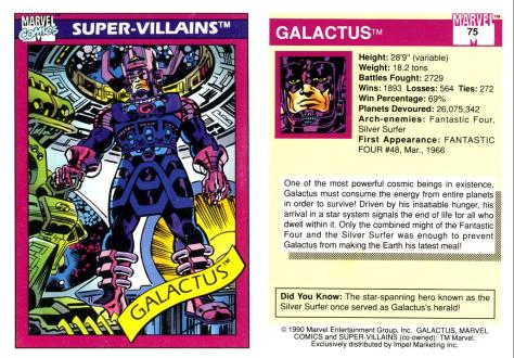 Marvel Universe Trading Cards - Series I (1990) - Page 149