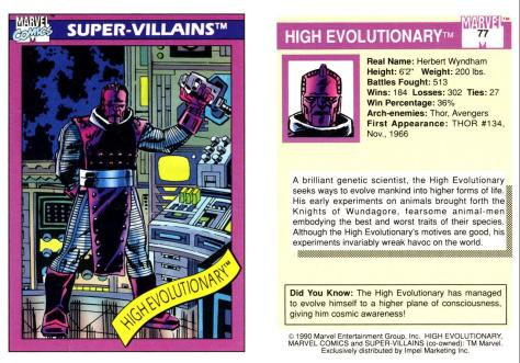 Marvel Universe Trading Cards - Series I (1990) - Page 153