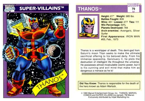 Marvel Universe Trading Cards - Series I (1990) - Page 157