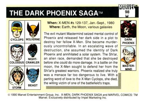 Marvel Universe Trading Cards - Series I (1990) - Page 196