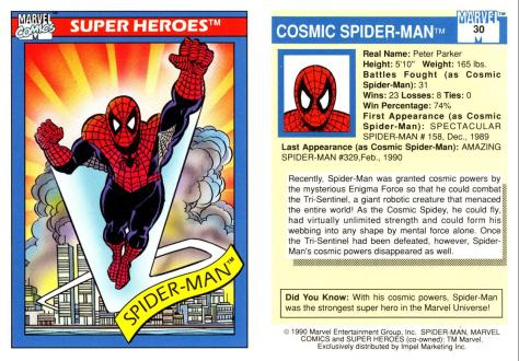 Marvel Universe Trading Cards - Series I (1990) - Page 59