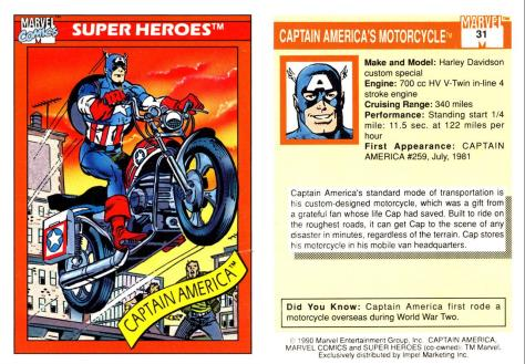 Marvel Universe Trading Cards - Series I (1990) - Page 61