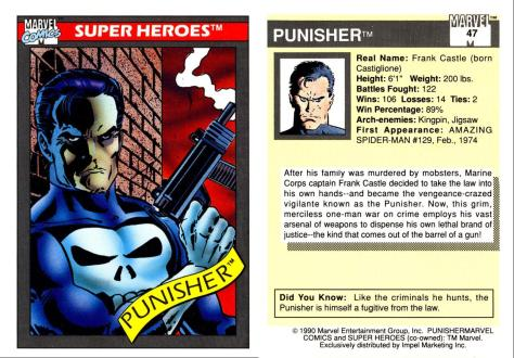 Marvel Universe Trading Cards - Series I (1990) - Page 93