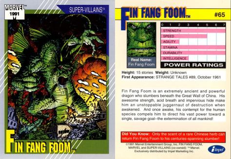 Marvel Universe Trading Cards - Series II (1991) - Page 129