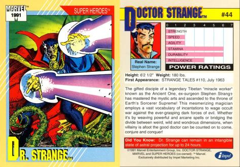 Marvel Universe Trading Cards - Series II (1991) - Page 87