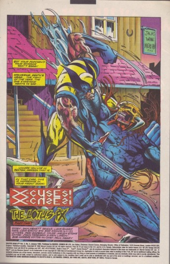 Death's Head tackles Wolverine - the guest star king.
