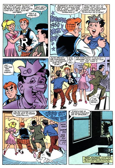 Do they really need Reggie to warn Veronica?  Wouldn't that really just take one of them?