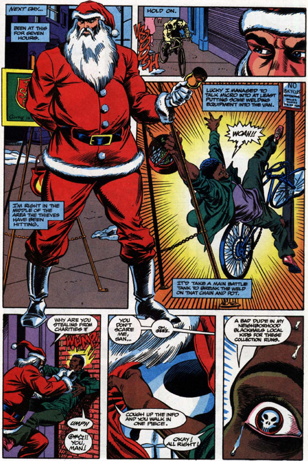 I would read a comic of nothing but the Punisher awkwardly making small talk as a bell ringer for seven hours.