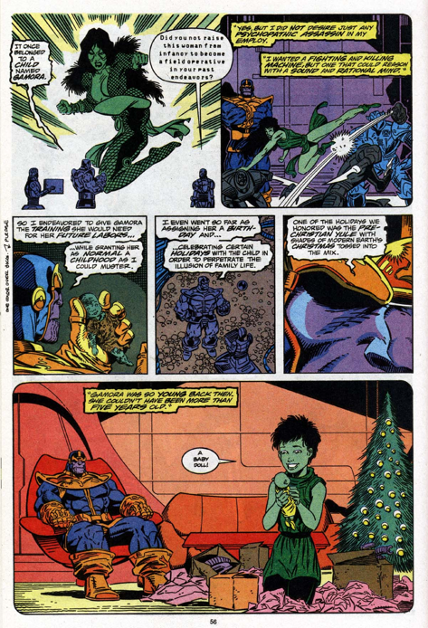 The birthdays and Christmas may be for Gamora's benefit, but those tea parties were all for Thanos.