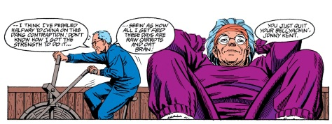 I realize now just how much I never wanted to see Martha Kent from that position. At least Jonathan's being heart healthy, despite that battle being unwinnable.