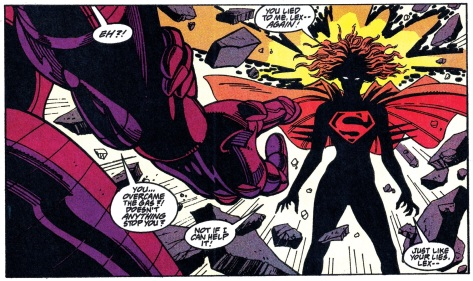 Ill defined, psychokinetic powers? Dark, nebulous appearance when enraged? This is why Supergirl fit well with the Legion of Super-Heroes, she was an X-Man.
