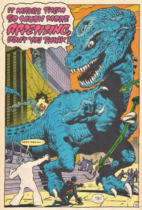 Comics today average $3.99 each and none of them feature a psychically enhanced dinosaur.